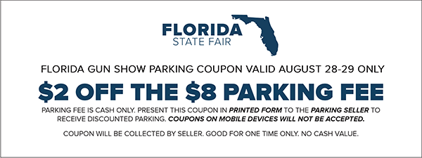 Tampa Gun Show Parking Coupon